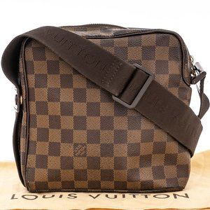 LOUIS VUITTON Damier Ebene Crossbody Olav PM